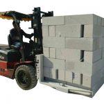Brique concrète de chariot élévateur / bride de levage de bloc