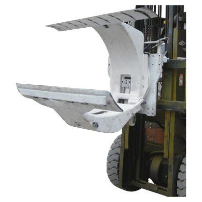 Chariot élévateur diesel 3 tonnes avec attaches pour pinces à rouleaux de papier