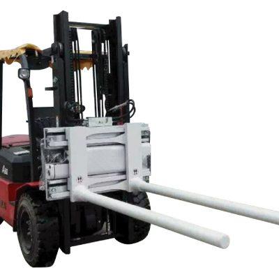 Pinces à bras à manoeuvre latérale avec chariot élévateur