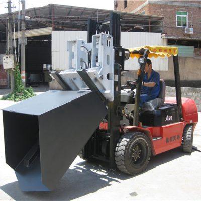 Fourche et godet articulés avec godet pour pièce jointe d'un chariot élévateur diesel Hyundai