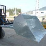 Chariot élévateur de 3 tonnes avec godet, godet hydraulique